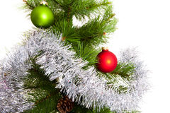 Geïsoleerde Kerstboomdecoratie 2016 Gelukkig Nieuwjaar Stock Afbeelding