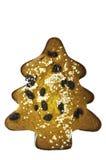 Geïsoleerde Kerstmiscake Stock Foto's
