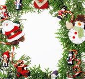 Geïsoleerde Kerstmisdecoratie, witte achtergrond voor de wijnoogst van de prentbriefkaargift Royalty-vrije Stock Foto's
