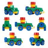 Geïsoleerde kinderenstuk speelgoed auto SUV Verschillende hoeken Royalty-vrije Stock Fotografie