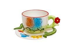 Geïsoleerde, kleurenkop thee Stock Afbeelding