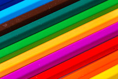 Geïsoleerde kleurenpotloden Royalty-vrije Stock Afbeelding