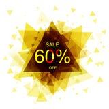 Geïsoleerde kleurrijke kortingssticker op witte achtergrond Abstracte geometrische driehoekige bannerverkoop Vector Royalty-vrije Stock Afbeeldingen
