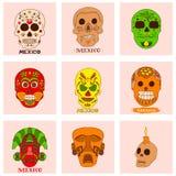 Geïsoleerde kleurrijke modieuze elementen over Mexico Hand getrokken inzameling voor Cinco de Mayo-viering Vector