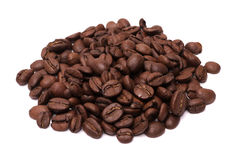 Geïsoleerde koffiebonen Royalty-vrije Stock Foto's