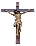 Geïsoleerde kruisiging Stock Fotografie