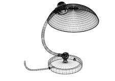 Geïsoleerde lamp 3D blauwdruk - vector illustratie