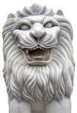 Geïsoleerde leeuwsteen royalty-vrije stock foto