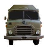Geïsoleerde Legervrachtwagen van Voorzijde Royalty-vrije Stock Fotografie