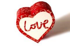 Geïsoleerde liefdedoos Stock Foto's