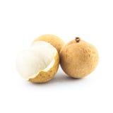 Geïsoleerde Longan - exotisch fruit Royalty-vrije Stock Fotografie