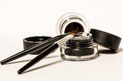 Geïsoleerde make-upmaterialen Stock Foto