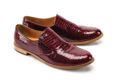 Geïsoleerde manier elegante schoenen Stock Afbeeldingen