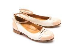 Geïsoleerde manier vrouwelijke schoenen Stock Afbeelding