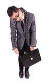 Geïsoleerde mens met ketting Royalty-vrije Stock Afbeelding
