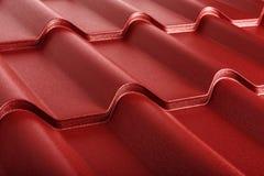 Geïsoleerde metaaltegel Modern dakwerkmateriaal Diagonale textuur royalty-vrije stock fotografie