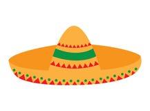 Geïsoleerde Mexicaanse hoed royalty-vrije illustratie