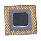 Geïsoleerde micropocessor Stock Fotografie