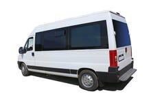 Geïsoleerde minibus Stock Foto