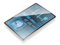 Geïsoleerde moderne medische tablet Stock Foto's