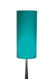Geïsoleerde Moderne Ontwerp Lichtblauwe Lamp op een zuivere witte achtergrond Royalty-vrije Stock Foto