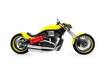 Geïsoleerde moto zijaanzicht Royalty-vrije Stock Fotografie