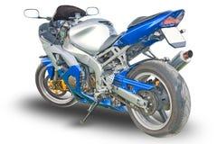 Geïsoleerde motorfiets royalty-vrije stock foto's