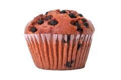 Geïsoleerde muffinchocoladeschilfer cupcake Royalty-vrije Stock Afbeeldingen