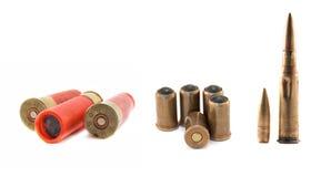Geïsoleerde munitie Stock Afbeeldingen
