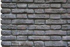 Geïsoleerde muur van oude rode bakstenen, stock foto's