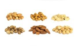 Geïsoleerde noten Stock Foto