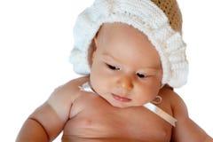 Geïsoleerde onschuldige baby Royalty-vrije Stock Afbeeldingen