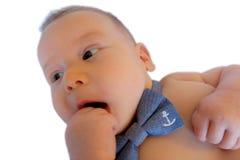 Geïsoleerde onschuldige baby Stock Foto