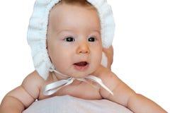 Geïsoleerde onschuldige baby Stock Foto's