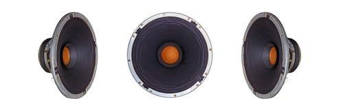 Geïsoleerde Oude Uitstekende Muziek Dynamische Spreker Stock Fotografie