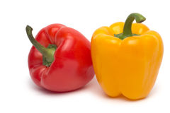 Geïsoleerde paprika Stock Foto's
