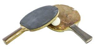 Geïsoleerde pingpongraket royalty-vrije stock foto