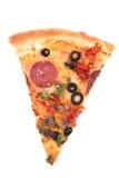 Geïsoleerde pizza Stock Afbeelding