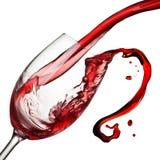 Geïsoleerde plons van wijn stock foto's