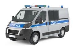 Geïsoleerde politiewagen Stock Fotografie