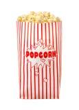 Geïsoleerde popcornzak Royalty-vrije Stock Foto's