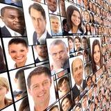 Geïsoleerde portretten van mensen Royalty-vrije Stock Foto's