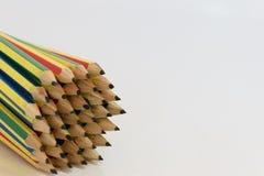 Geïsoleerde potloden Royalty-vrije Stock Foto