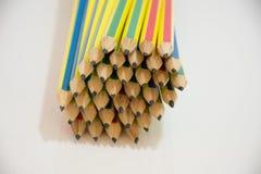 Geïsoleerde potloden Stock Afbeeldingen