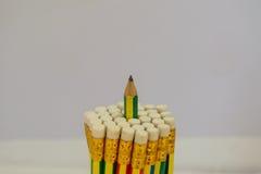 Geïsoleerde potloden Stock Foto