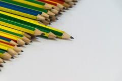 Geïsoleerde potloden Royalty-vrije Stock Foto's