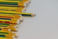 Geïsoleerde potloden Royalty-vrije Stock Afbeelding