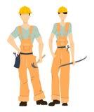 Geïsoleerde professionele bouwers royalty-vrije illustratie