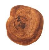 Geïsoleerde raad van oude olijfboom Stock Afbeelding