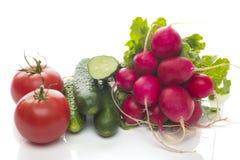 Geïsoleerde reeks groenten Stock Afbeelding